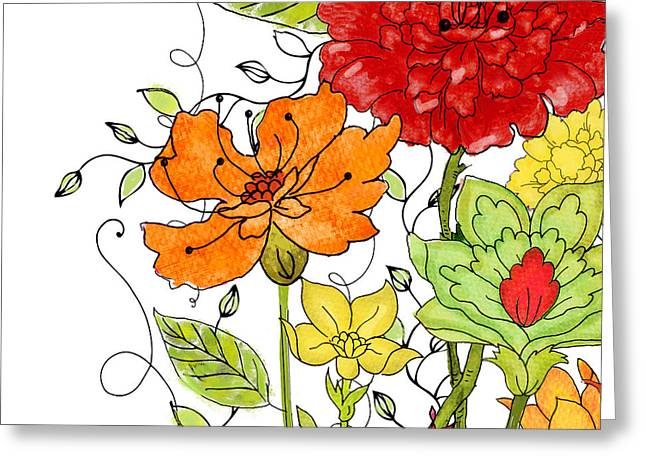 Aria I Greeting Card by Mindy Sommers