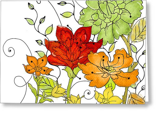 Aria II Greeting Card by Mindy Sommers