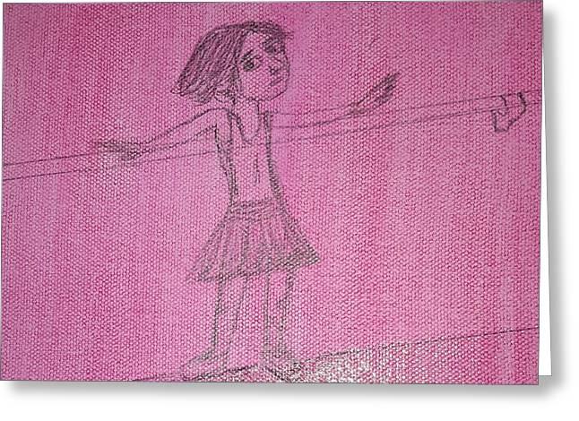 Ariel Greeting Card by Cindy  Riley