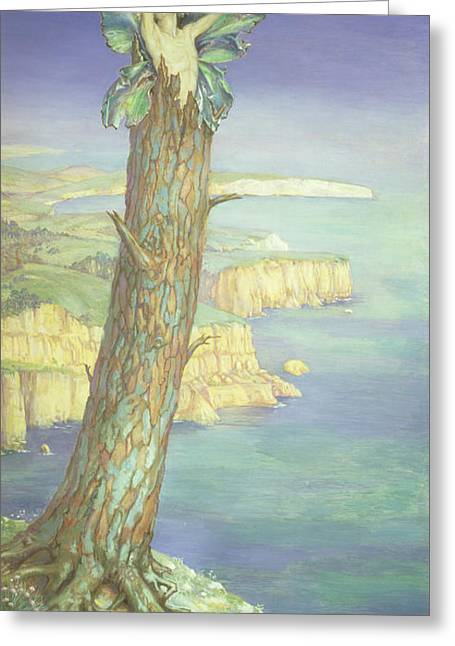 In A Tree Greeting Cards - Ariel Greeting Card by Maud Tindal Atkinson