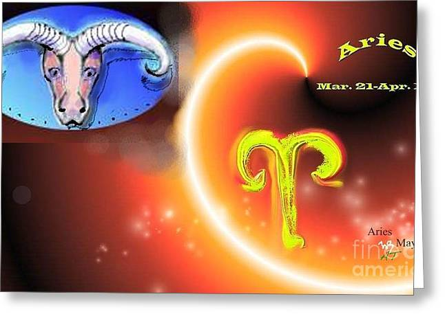 Greeting Card featuring the painting Aries by The Art of Alice Terrill