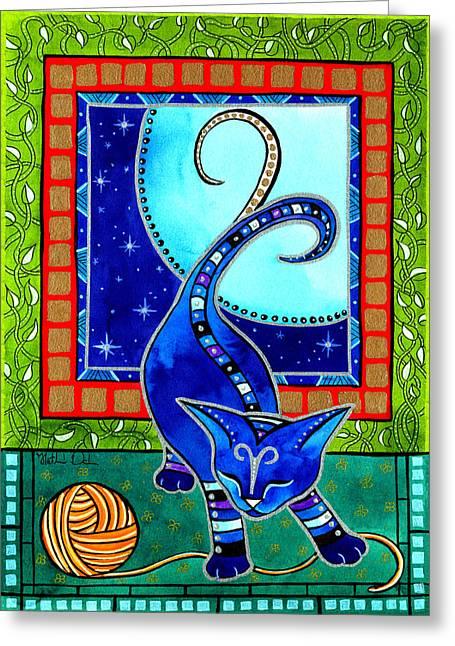Aries Cat Zodiac Greeting Card
