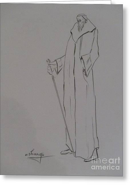 Aristocrat Greeting Card by Ushangi Kumelashvili