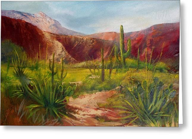 Arizona Beauty Greeting Card by Robert Carver