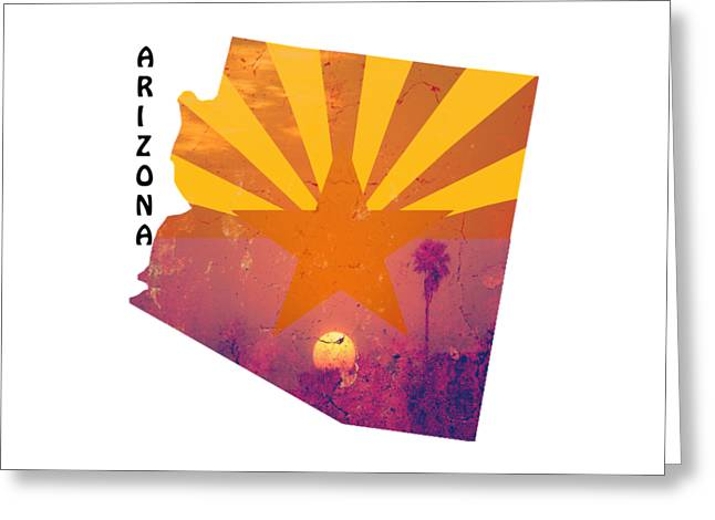 Arizona Greeting Card by Beverly Guilliams