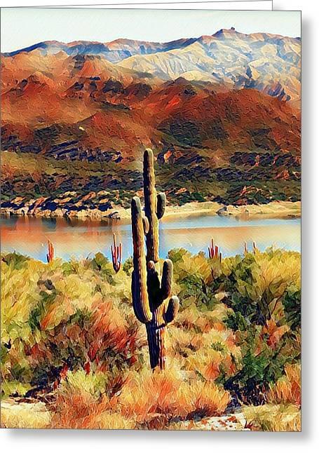 Arizona Burn Greeting Card by Deniece Platt