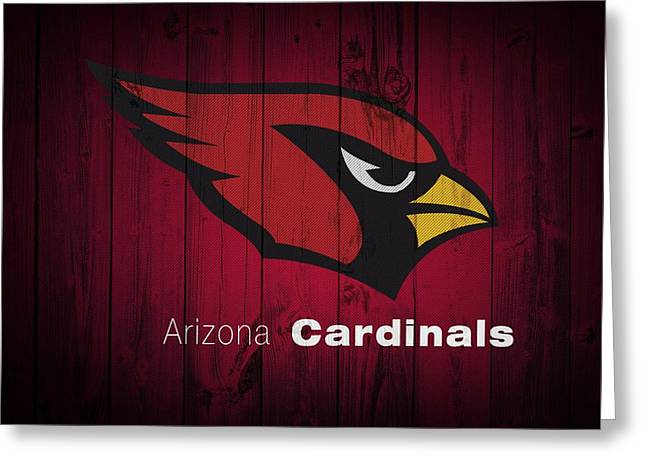 Arizona Cardinals Barn Door Greeting Card