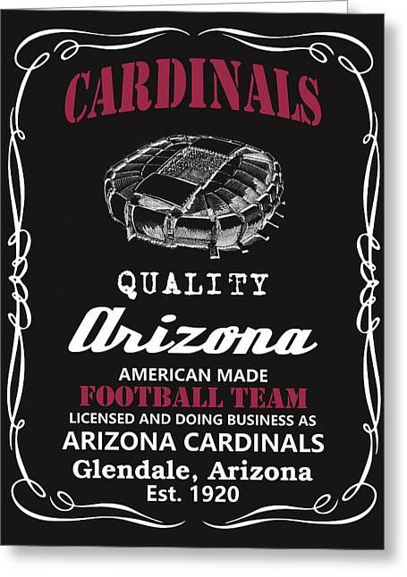 Arizona Cardinals Whiskey Greeting Card by Joe Hamilton