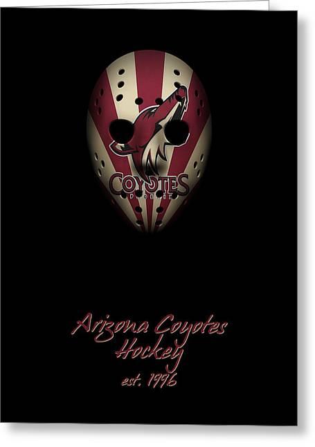 Arizona Coyotes Established Greeting Card by Joe Hamilton