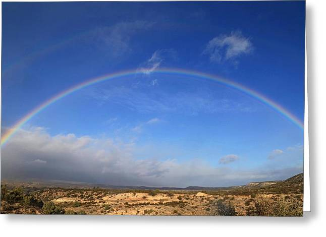 Arizona Desert Rainbow Greeting Card