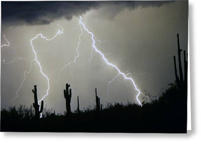 Arizona Desert Storm Greeting Card