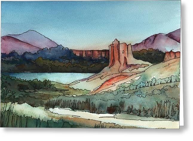 Arizona Hills Greeting Card by Robynne Hardison