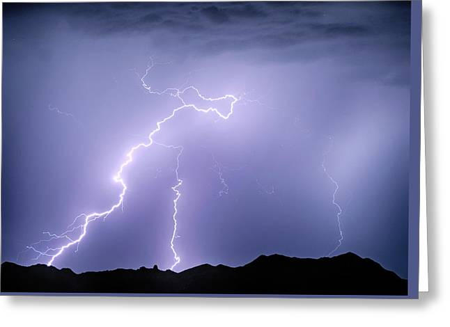 Arizona Mcdowell Mountains Electrical Discharge Greeting Card by James BO Insogna