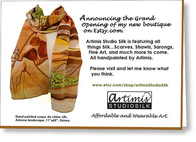 Arizona Memories Greeting Card by Artimis Alcyone