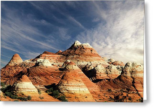 Arizona North Coyote Buttes Greeting Card by Bob Christopher