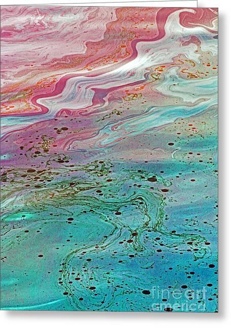Arizona Oil 3 Greeting Card by Jennifer Robin
