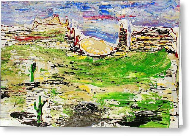 Greeting Card featuring the painting Arizona Skies by J R Seymour