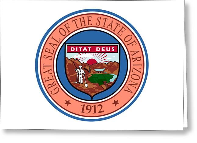 Arizona State Seal Greeting Card