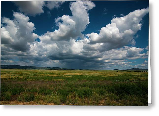 Greeting Card featuring the photograph Arizona Storm 2139  by David Haskett