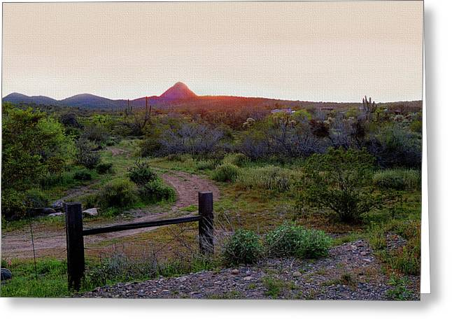 Arizona Sundown Greeting Card
