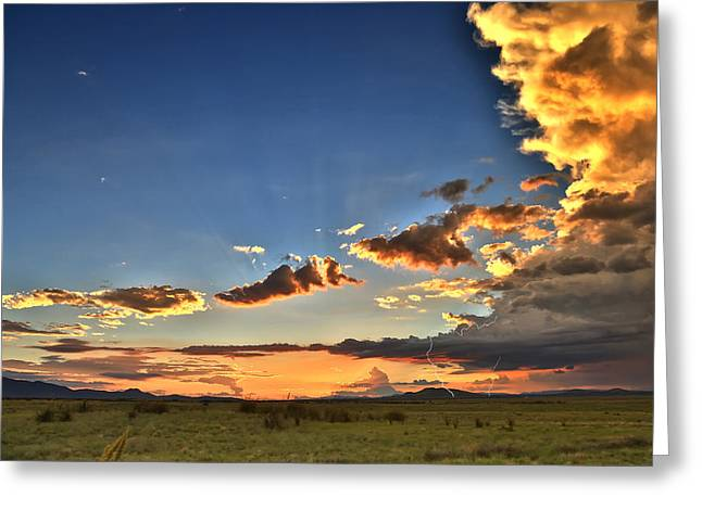 Arizona Sunset Storm Greeting Card