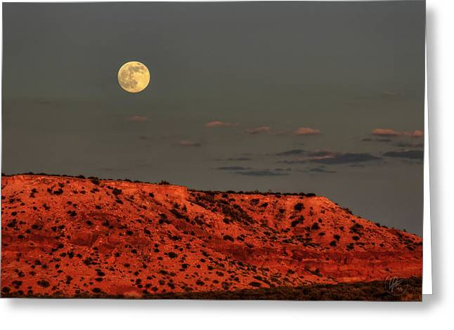 Arizona Supermoon 001 Greeting Card by Lance Vaughn