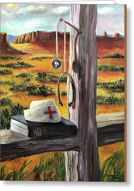Arizona The Nurse And Hope Greeting Card by Randy Burns