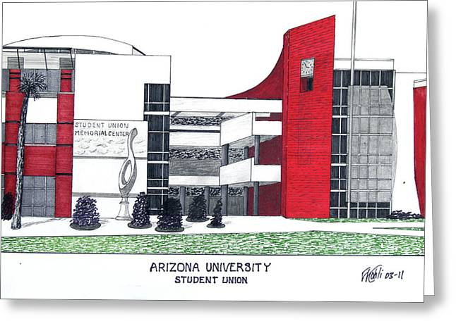 Arizona University Greeting Card by Frederic Kohli