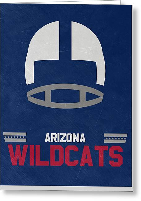Arizona Wildcats Vintage Football Art Greeting Card