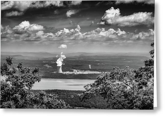 Arkansas Nuclear One In Bw Greeting Card
