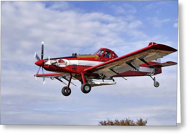 Arkansas Razorbacks Crop Duster Greeting Card