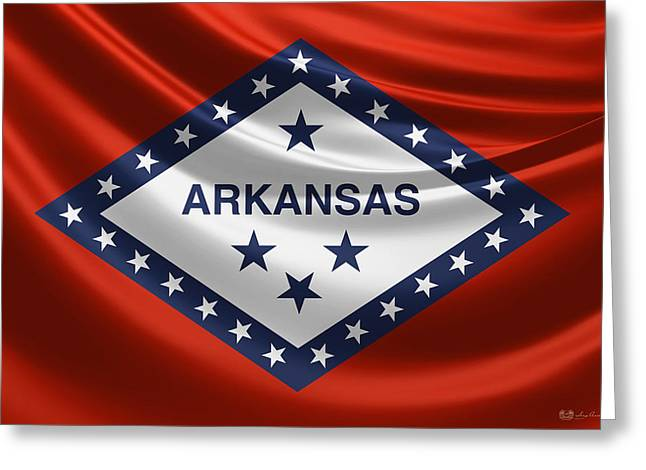 Arkansas State Flag Greeting Card