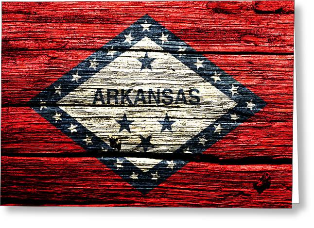 Arkansas State Flag W1 Greeting Card by Brian Reaves