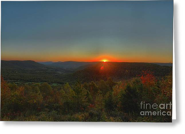 Arkansas Sunrise Greeting Card by Kevin Kuchler