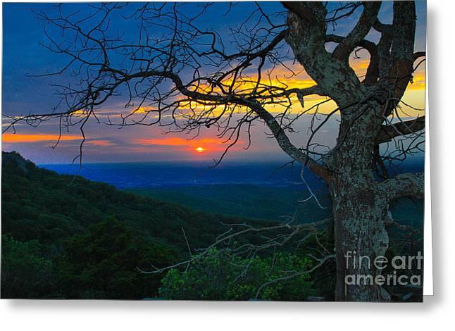 Arkansas Sunset Greeting Card by John Roberts