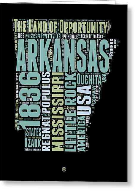 Arkansas Word Cloud 1 Greeting Card