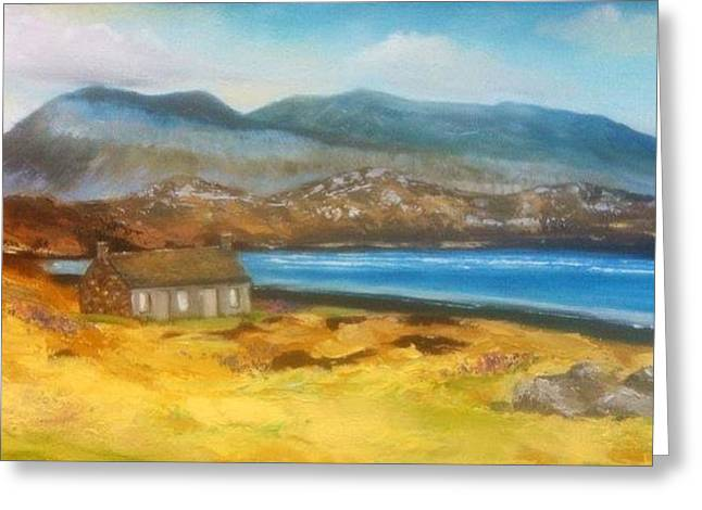 Arkle Mountain Sutherland Greeting Card by Dawn Noble