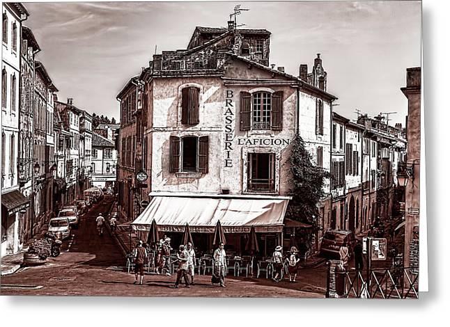 Arles, France, In Sepia Greeting Card