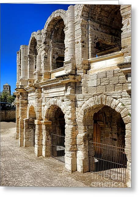 Arles Roman Amphitheater Greeting Card