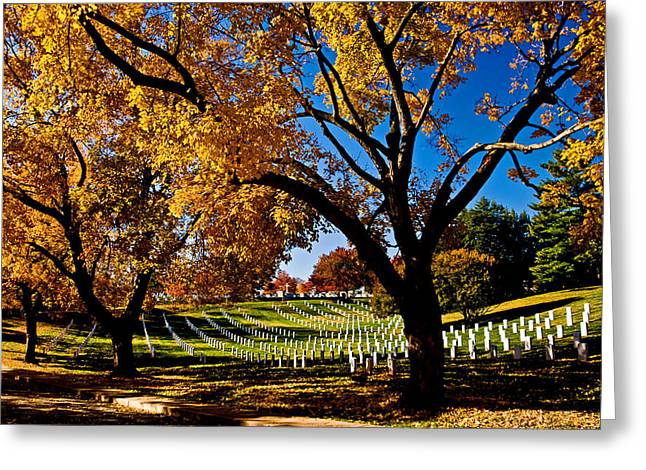 Arlington Cemetery In The Fall Greeting Card