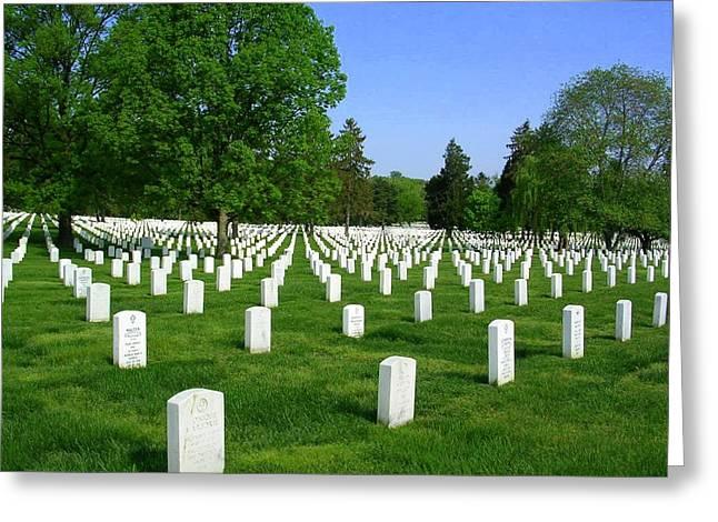 Arlington National Cemetery Greeting Card by Don Struke