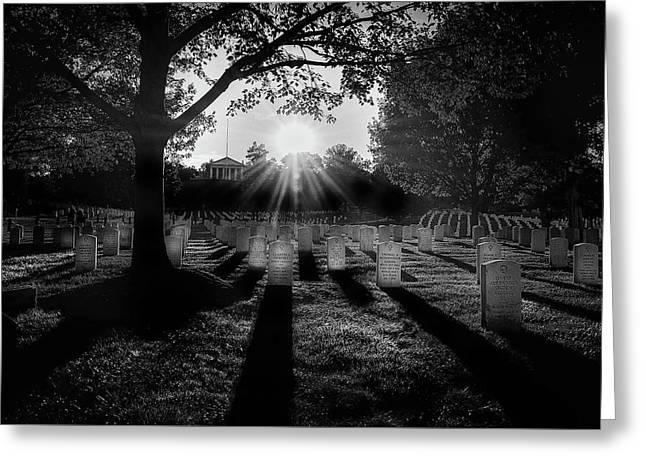 Arlington National Cemetery Greeting Card by Paul Seymour