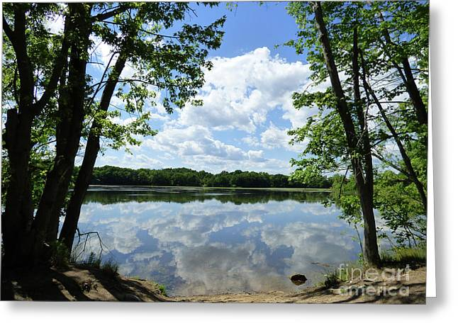 Arlington Reservoir Greeting Card