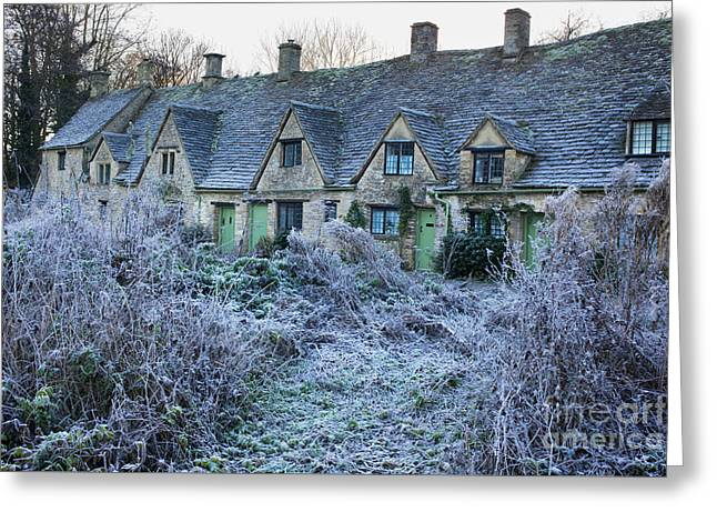 Arlington Row In Winter Greeting Card by Tim Gainey