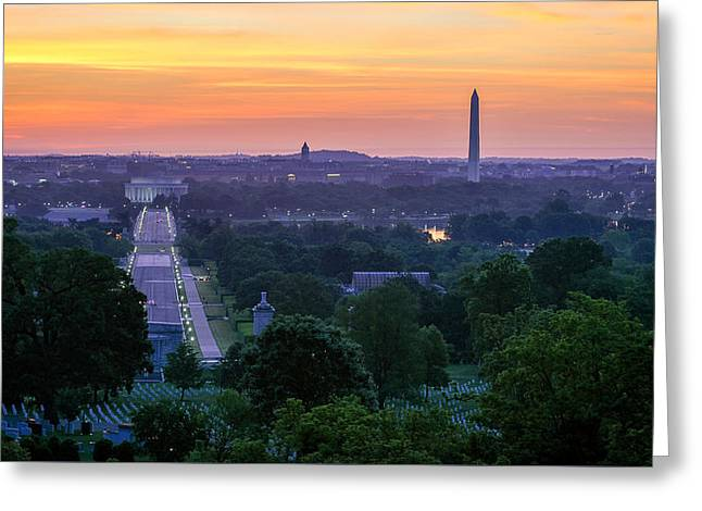Arlington Sunrise Greeting Card by Michael Donahue