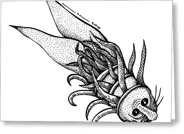 Arm Fish Greeting Card by Karl Addison