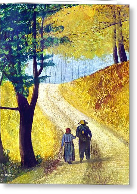 Arm In Arm Greeting Card by Brian Wallace
