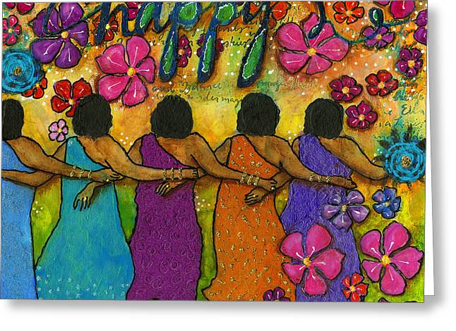 Arm In Arm - The Strongest Chain Greeting Card by Angela L Walker