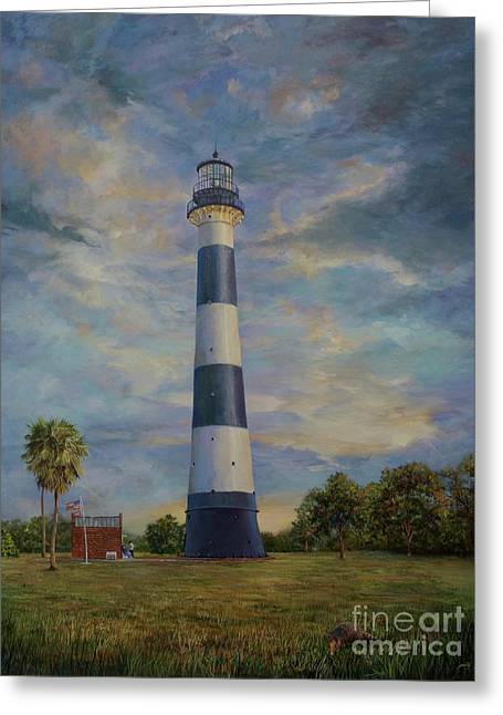 Armadillo And Lighthouse Greeting Card
