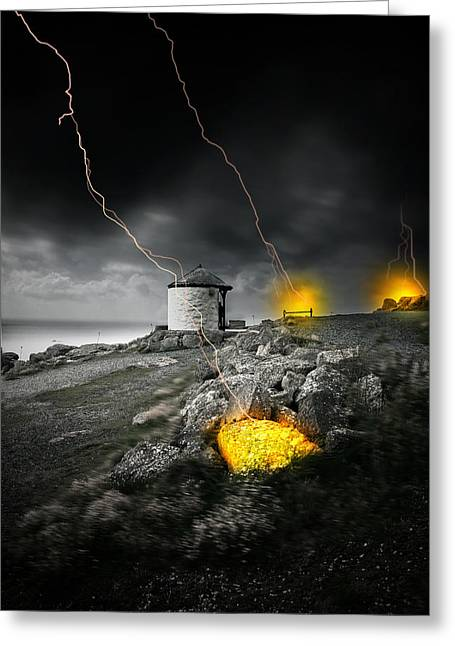 Armageddon Greeting Card by Jaroslaw Grudzinski